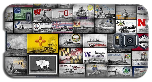 Galaxy S5 Case featuring the digital art The 50 States And Their Battleships by JC Findley