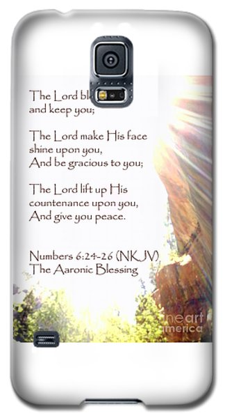 The Aaronic Blessing And True Light Lower Emerald Pools Zion Galaxy S5 Case