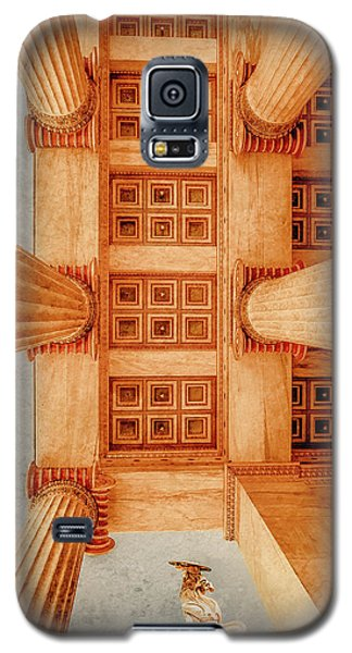 Galaxy S5 Case featuring the photograph Athens, Greece - The Academy Entry Soffit by Mark Forte