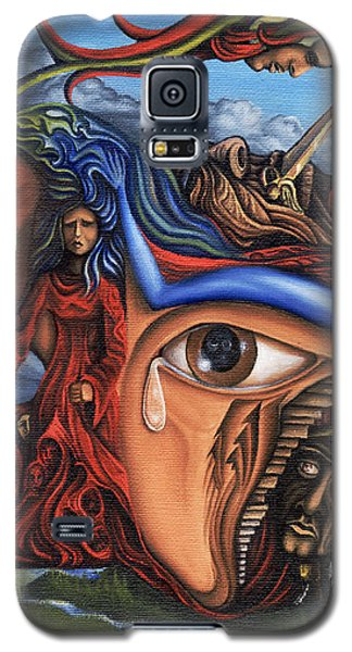 Galaxy S5 Case featuring the painting The Aftermath by Karen Musick