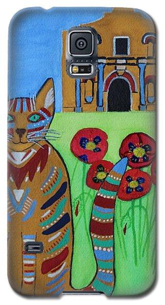 the Alamo Cat Galaxy S5 Case