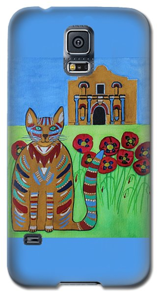 the Alamo Cat Galaxy S5 Case