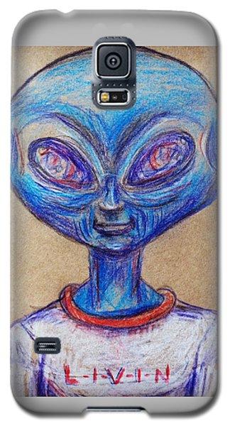 The Alien Is L-i-v-i-n Galaxy S5 Case by Similar Alien