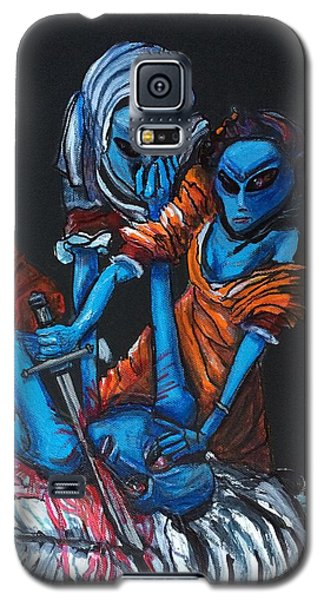 Galaxy S5 Case featuring the painting The Alien Judith Beheading The Alien Holofernes by Similar Alien