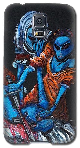 The Alien Judith Beheading The Alien Holofernes Galaxy S5 Case by Similar Alien