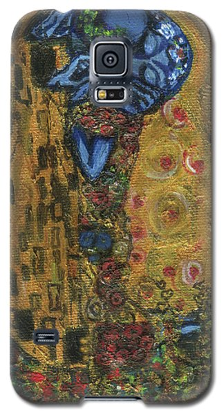 Galaxy S5 Case featuring the painting The Alien Kiss By Blastoff Klimt by Similar Alien