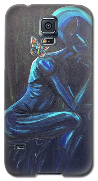 Galaxy S5 Case featuring the painting The Alien Thinker by Similar Alien