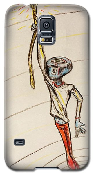 Galaxy S5 Case featuring the drawing The Aliens Least Favorite Dream by Similar Alien