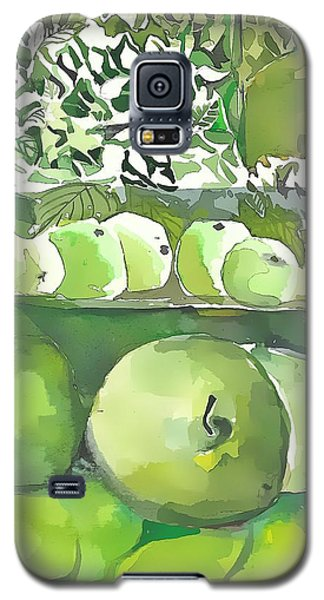 Galaxy S5 Case featuring the painting The Apple Closet by Mindy Newman