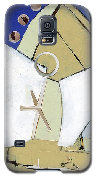Galaxy S5 Case featuring the painting The Arc by Michal Mitak Mahgerefteh