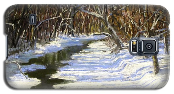 Galaxy S5 Case featuring the painting The Assabet River In Winter by Jack Skinner