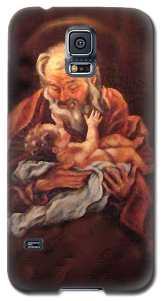 Galaxy S5 Case featuring the painting The Baby Jesus - A Study by Donna Tucker