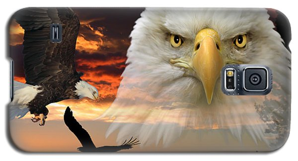 Galaxy S5 Case featuring the photograph The Bald Eagle by Shane Bechler