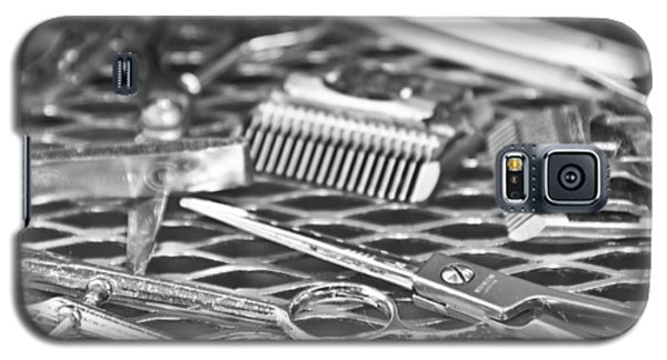 The Barber Shop 10 Bw Galaxy S5 Case by Angelina Vick