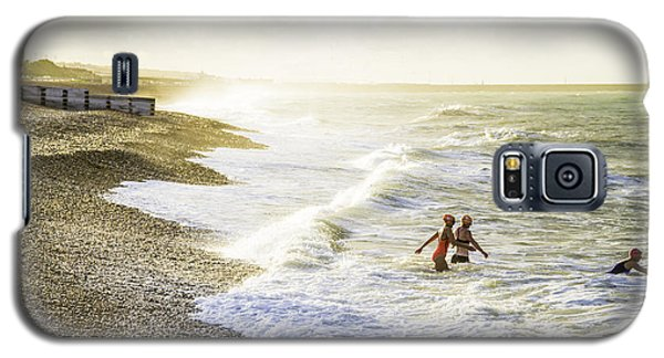 Galaxy S5 Case featuring the photograph The Bathers by Russell Styles