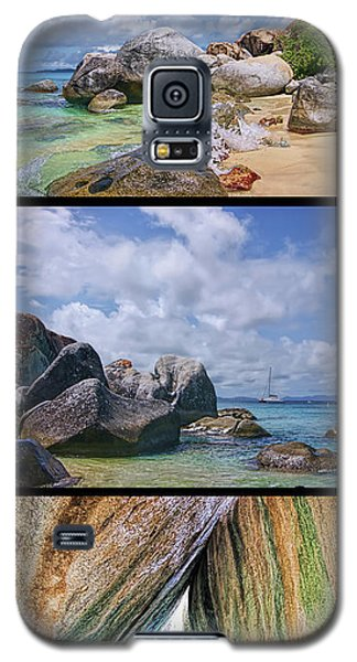 The Baths Virgin Gorda National Park Triptych Galaxy S5 Case by Olga Hamilton
