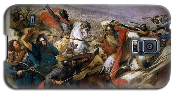 Religious Galaxy S5 Case - The Battle Of Poitiers by Charles Auguste Steuben