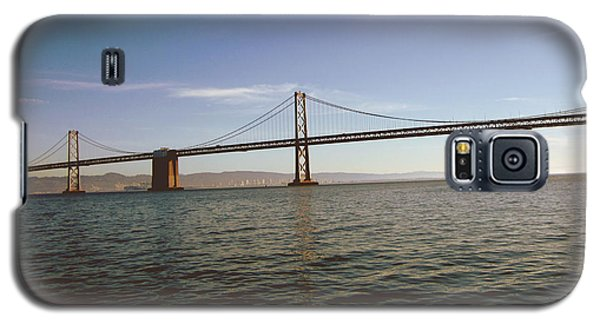 Galaxy S5 Case featuring the mixed media The Bay Bridge- By Linda Woods by Linda Woods