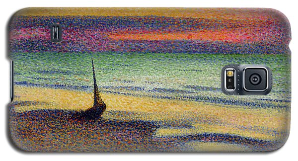 Impressionism Galaxy S5 Case - The Beach At Heist by Georges Lemmen