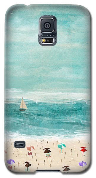 Galaxy S5 Case featuring the painting The Beach by Bri B