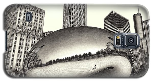 The Beach Chicago Drawing Galaxy S5 Case