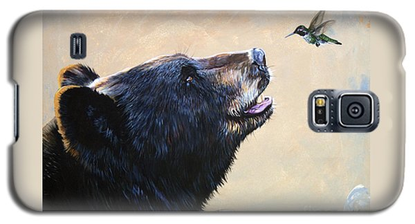 Bear Galaxy S5 Case - The Bear And The Hummingbird by J W Baker