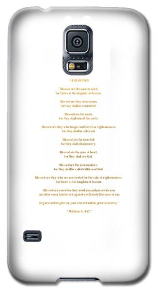 The Beatitudes Gospel Of Matthew Galaxy S5 Case