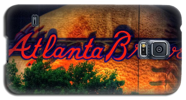 The Big Ball Atlanta Braves Baseball Signage Art Galaxy S5 Case