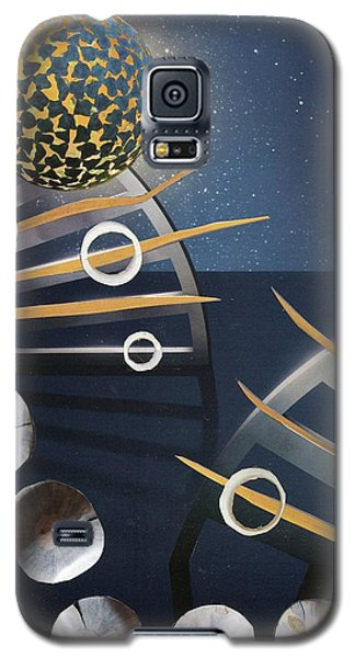Galaxy S5 Case featuring the painting The Big Bang by Michal Mitak Mahgerefteh