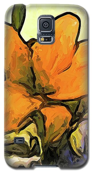 The Big Gold Flower And The White Roses Galaxy S5 Case