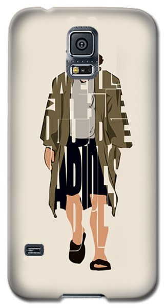 The Big Lebowski Inspired The Dude Typography Artwork Galaxy S5 Case
