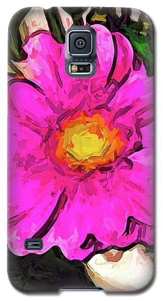 The Big Pink And Yellow Flower In The Little Vase Galaxy S5 Case