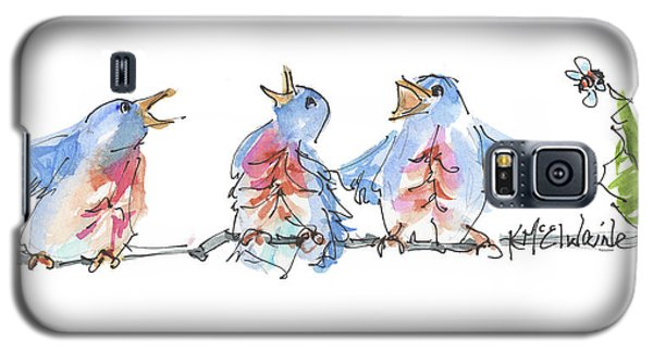 The Birds And The Bee Bird Art Watercolor Painting By Kmcelwaine Galaxy S5 Case