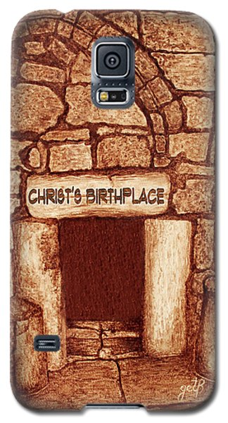 Galaxy S5 Case featuring the painting The Birthplace Of Christ Church Of The Nativity by Georgeta Blanaru