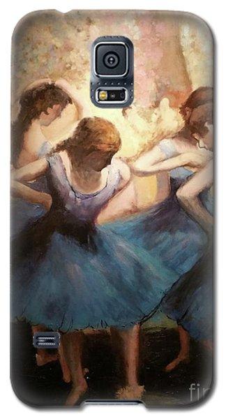 The Blue Ballerinas - A Edgar Degas Artwork Adaptation Galaxy S5 Case