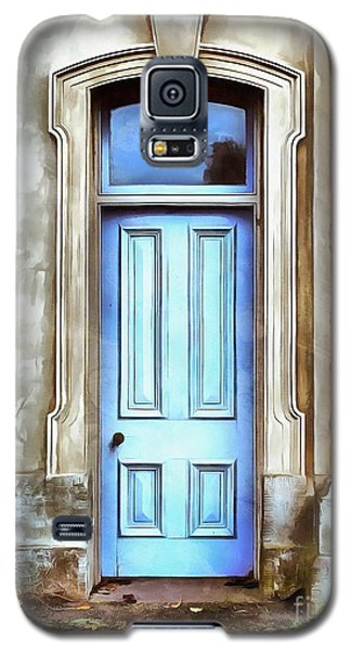 Galaxy S5 Case featuring the painting The Blue Door by Edward Fielding