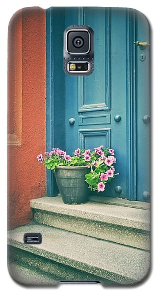 Galaxy S5 Case featuring the photograph The Blue Door by Karen Stahlros