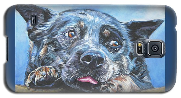 Galaxy S5 Case featuring the painting The Blue Heeler by Lee Ann Shepard