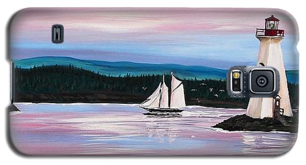 Galaxy S5 Case featuring the painting The Blue Nose II At Baddeck Nova Scotia by Patricia L Davidson