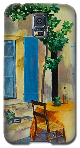 The Blue Shutters Galaxy S5 Case by Elise Palmigiani