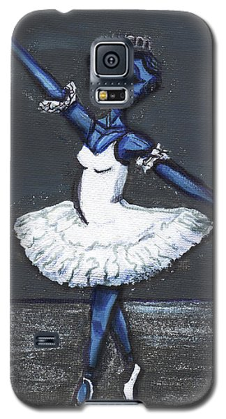 Galaxy S5 Case featuring the painting The Blue Swan by Similar Alien