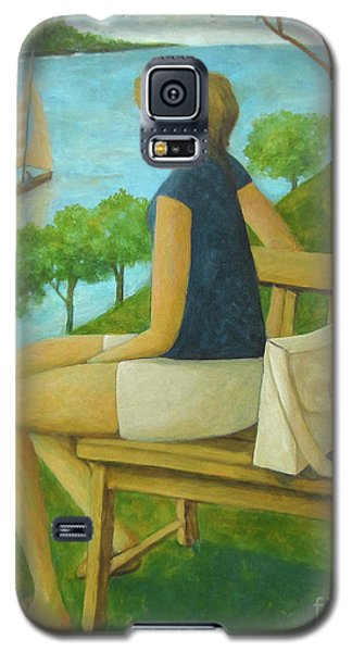 Galaxy S5 Case featuring the painting The Bluff by Glenn Quist