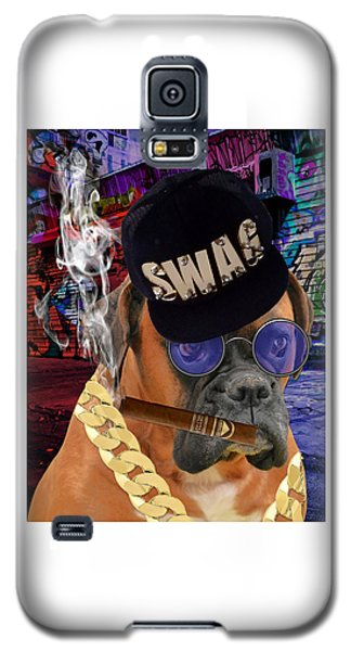 Galaxy S5 Case featuring the mixed media The Boss Boxer by Marvin Blaine