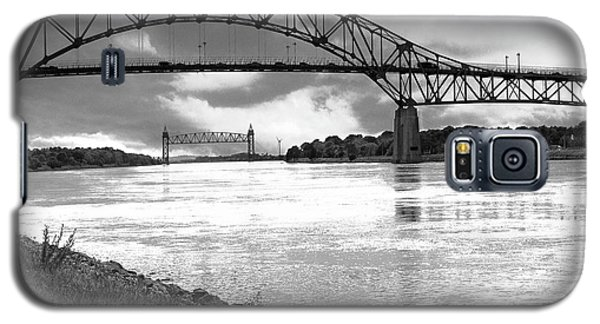 Galaxy S5 Case featuring the photograph The Bourne And Railroad Bridges by Michelle Wiarda