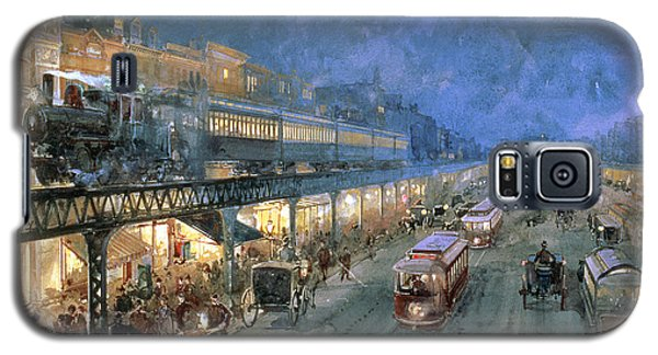 Train Galaxy S5 Case - The Bowery At Night by William Sonntag