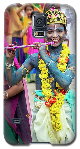 Galaxy S5 Case featuring the photograph The Boy Krishna by Tim Gainey
