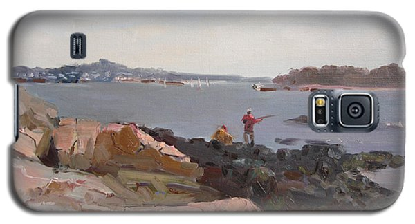 Rocky Galaxy S5 Case - The Bronx Rocky Shore by Ylli Haruni