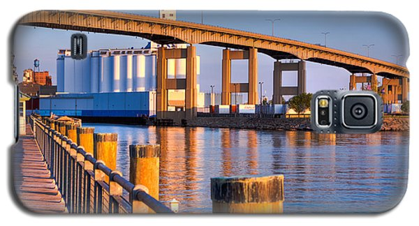 Galaxy S5 Case featuring the photograph The Buffalo Skyway by Don Nieman
