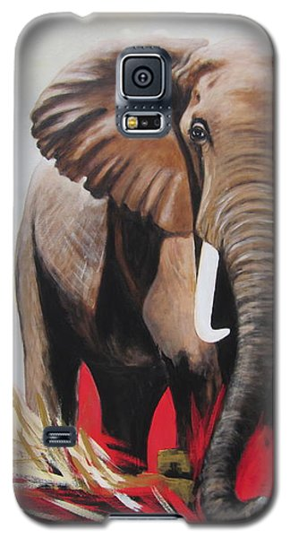Win Win - The  Bull Elephant  Galaxy S5 Case