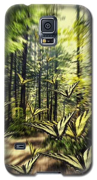 Galaxy S5 Case featuring the photograph The Butterfly Migration Vortex by Diane Schuster